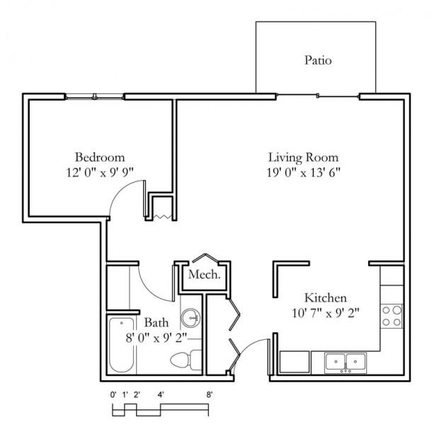 One Bedroom Apartments Manhattan Ks: 1 Bedroom, 1 Bath (693sqft