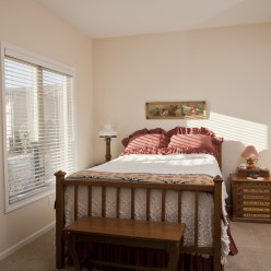 Guest bedroom with safe room