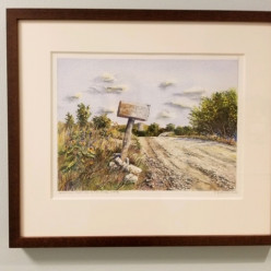 Greetings from the Sunflower State by Ralph Fontenot / 16 x 20, watercolor, framed / Retail value: $420