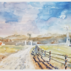 Wagstaff Ranch by Gene Ernst / 21 x 13, watercolor / Retail value: $450