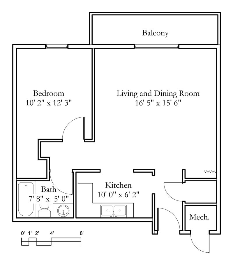 One Bedroom Apartments Manhattan Ks: Sample Floor Plans