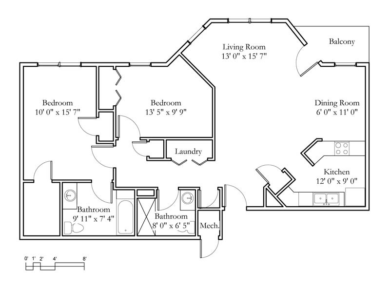 Apartment sample floor plans meadowlark continuing - Raising a child in a one bedroom apartment ...