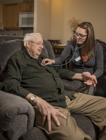In-home health care.