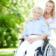A young woman and an older woman in a wheelchair